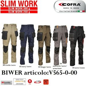Pantaloni da Lavoro Multitasca COFRA modello BIWER Elasticizzati Ergonomici Slim