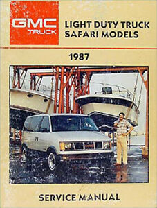 1987 Chevy Astro Van Service Repair Shop Manual Oem 87