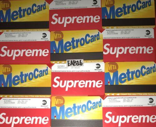 Supreme Metro Card NYC Subway MTA Train Pass New York City Metrocard SS17 X