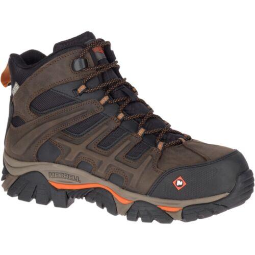 Merrell Men Moab 2 Peak Mid Waterproof Comp Toe Work Boot