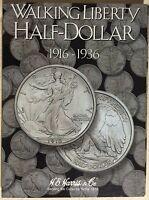 He Harris Walking Liberty Half Dollar 1 1916-1936 Coin Folder, Album Book2693