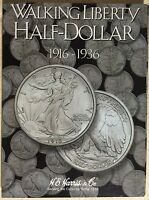 He Harris Walking Liberty Half Dollar 1 1916-1936 Coin Folder, Album Book2693