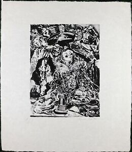 Knox-Martin-Vintage-Etching-Serigraph-Silkscreen-Limited-Edition-Number-A-P