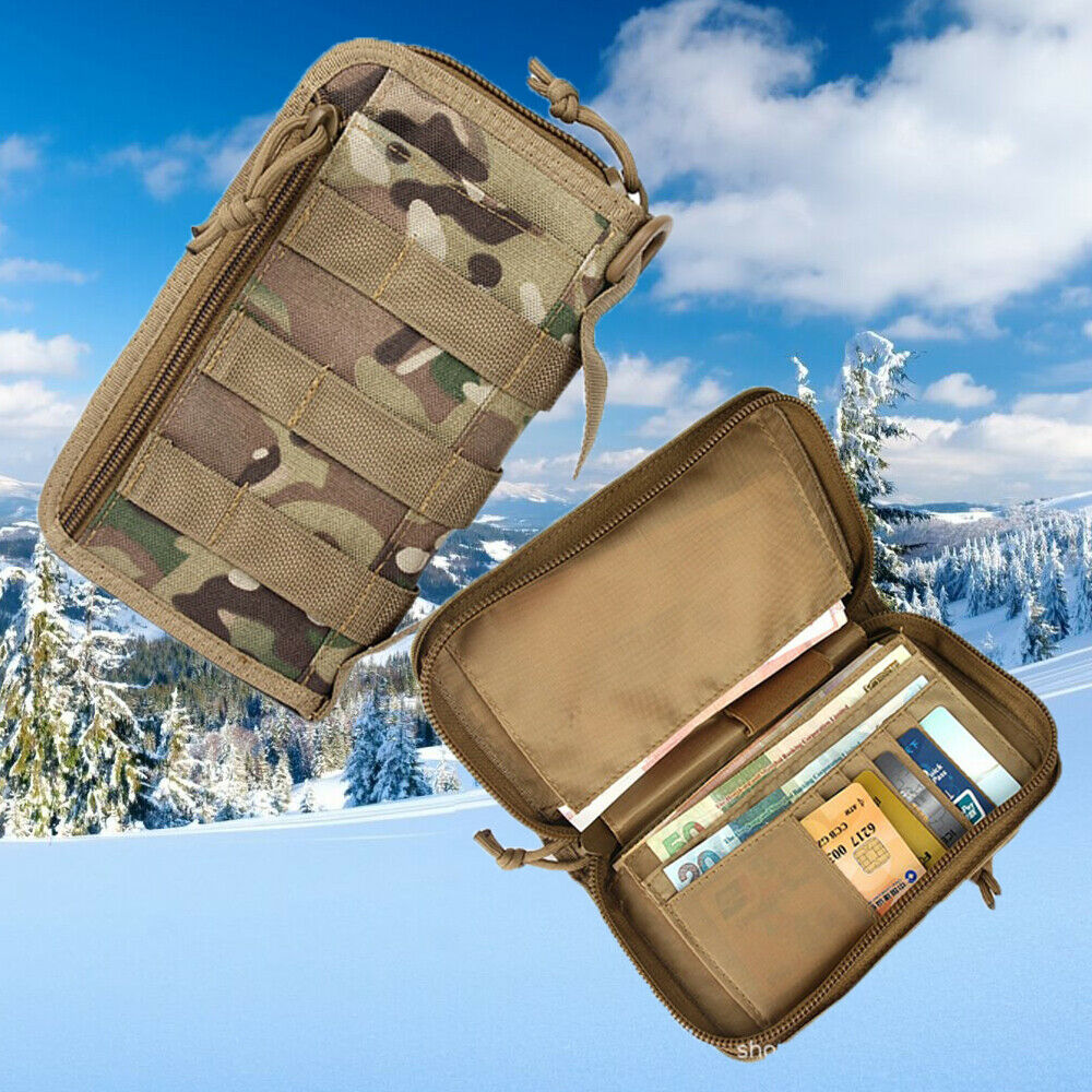 Outdoor Tactical Wallet Men Travel Pouch Holster ID Cards Key Phone Handbag