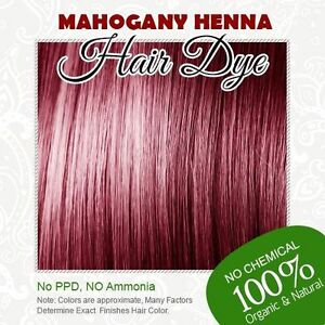 Mahogany Henna Hair Dye - 100% Organic and Chemical free Henna for ...