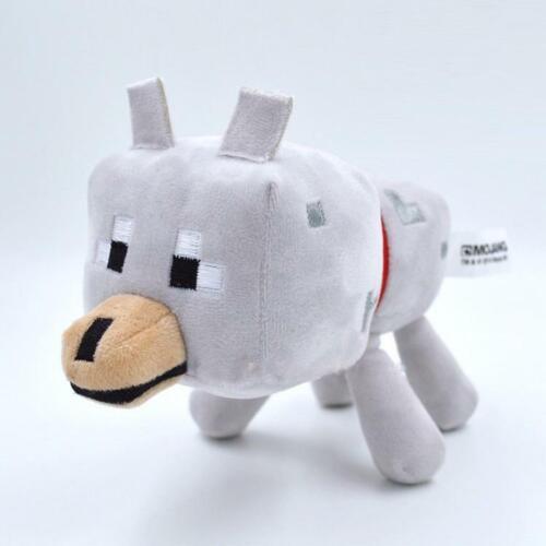 Baby Wolf Minecraft Peluche 20cm de largo