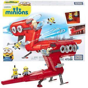 Nouveau Mega Bloks me despicible enfants Minion supervillain jet toy cnf60  </span>