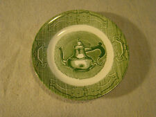 Vintage Green & White Plate Colonial Homestead Style Coffee Pot 441606