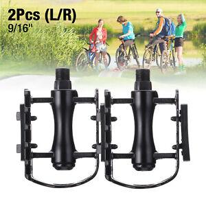 "Mountain Bike MTB Pedal Aluminum Alloy Flat Platform Bicycle Pedal 9//16/"""