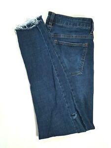 HARPER-HERITAGE-Womens-Mid-Rise-Skinny-Medium-Wash-Jeans-RAW-HEM-Size-27-SHORT