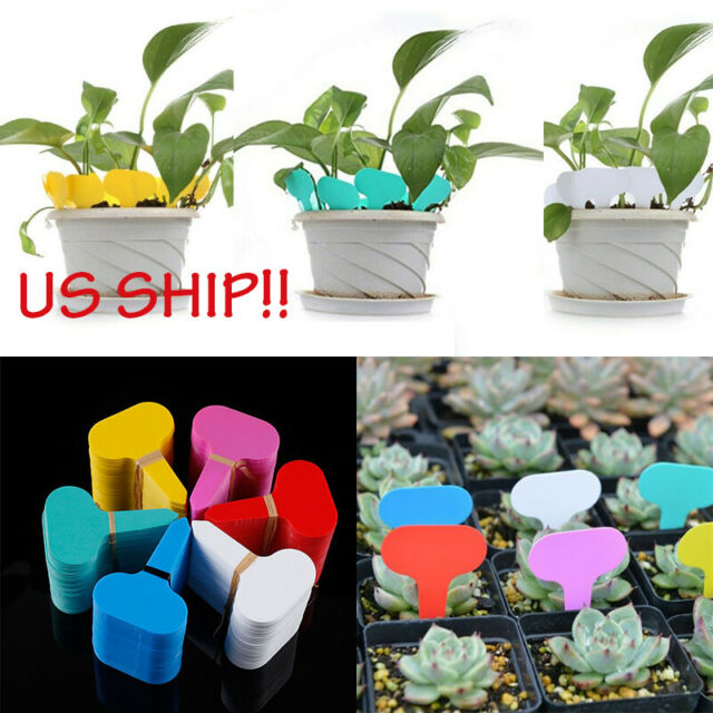 100Pcs New Garden Plant Markers Plastic Stake Tags Label Nursery Court Yard I4Y9