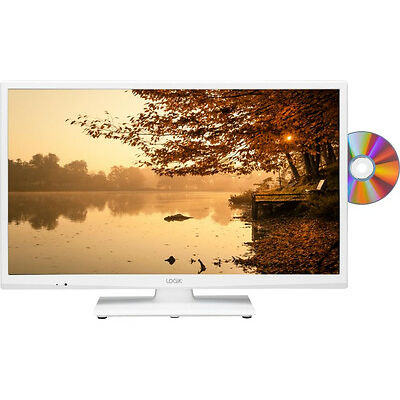 """LOGIK L24HEDW15 24"""" LED TV with Built-in DVD Player White HD Ready 720p 50 Hz"""