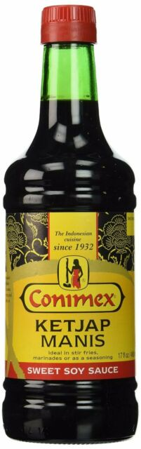 Conimex Ketjap Manis, sweet Indonesian Soy Sauce, Spices, 485 ml (Pack of 3)