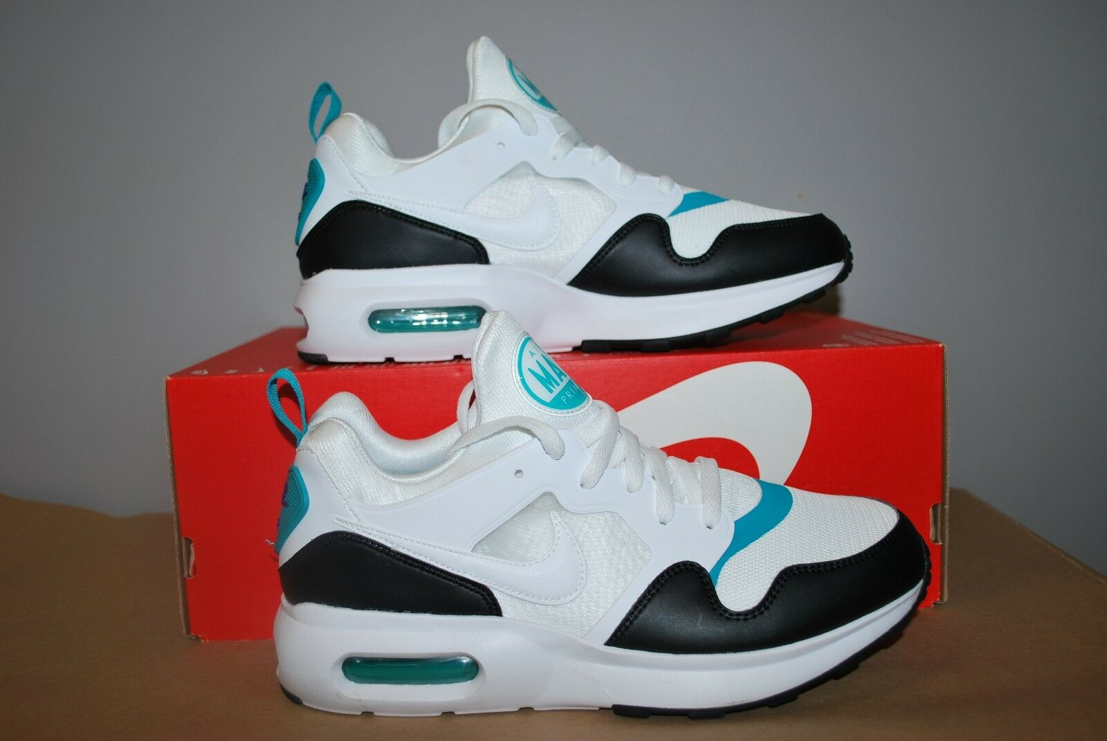 8c5fbbb4c09a8 Nike Air Max Prime Running Shoes White Turbo White Turbo White Turbo Green