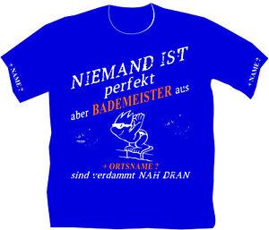 Schwimmmeister Bademeister T Shirt Rettungsdienst Wunschname