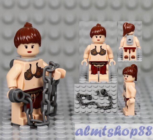 Lego Princess Leia 6210 Jabba Slave with Neck Bracket Star Wars Minifigure