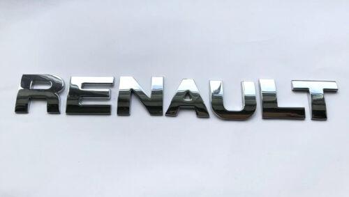 Calidad Full Metal 25MM Cromo 3D Autoadhesivo Letras Palabra ortografía Renault.