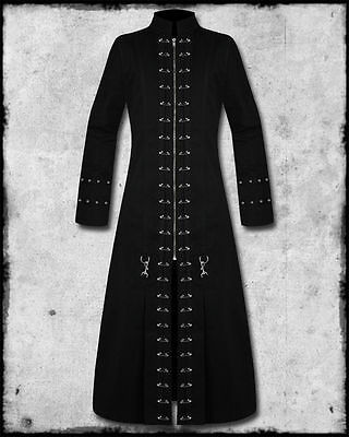 MEN BLACK HELLRAISER GOTH PUNK PINHEAD VAMPIRE JACKET TRENCH COAT