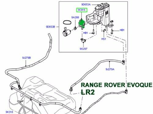LAND ROVER FUEL VALVE LEAK DETECTOR LR3 LR4 LR2 ROVER LR2 RANGE EVOQUE WTR500030