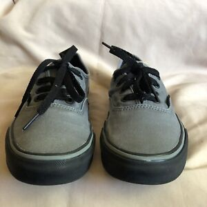 VANS-Authentic-Skateboarding-Shoes-Gray-Black-US-Mens-6-Womens-7-5