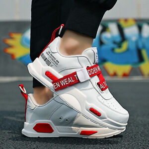 Men-039-s-Air-Cushion-Leather-Outdoor-Running-Jogging-Shoes-Athletic-Sports-Sneakers