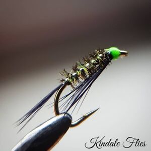 Red Holo Natural Quill Buzzers size 10 Fly Fishing Straight Set of 3