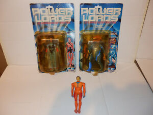 Lot Power Lords Ceji Arbois 2 Blisters 1 Lâche Pas de Popy Goldorak Action Joe