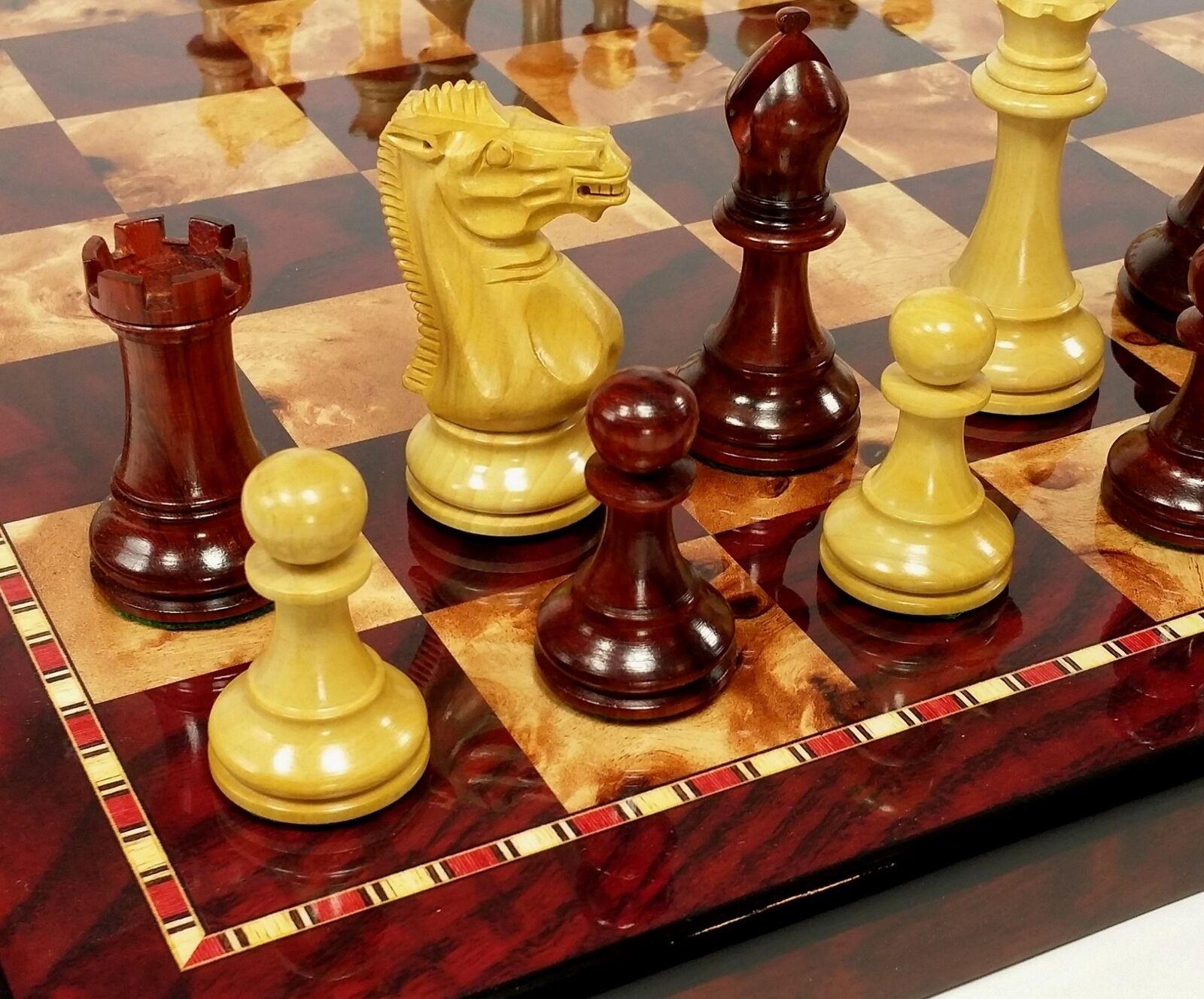 Sang palissandre  3 3 4  kg Anderssen Staunton bois chess set 18  CHERRY Couleur BD  les clients d'abord