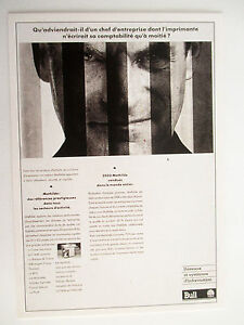 Carte-Editions-Atlas-Slogan-Publicitaire-1991-Bull-Imprimante-Mathilde