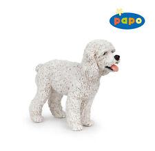 R9) Papo (54016) caniche blanco granja perros perro