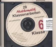 CD-ROM Mathematik-Klassenarbeiten mit vollständigen Lösungswegen (Klasse 6)