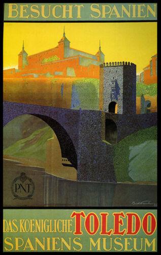 Toledo Spain Museum City Travel Spanish Tourism Vintage Poster Repro FREE S//H