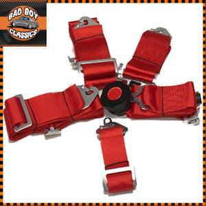RED 5 Point Harness Quick Release Latch Clip ing + Eye Bolts ...