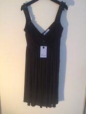 New Bluemarine Dress With Tag,Authentic,Black,Size42,(USA4-6)Made In Italy.