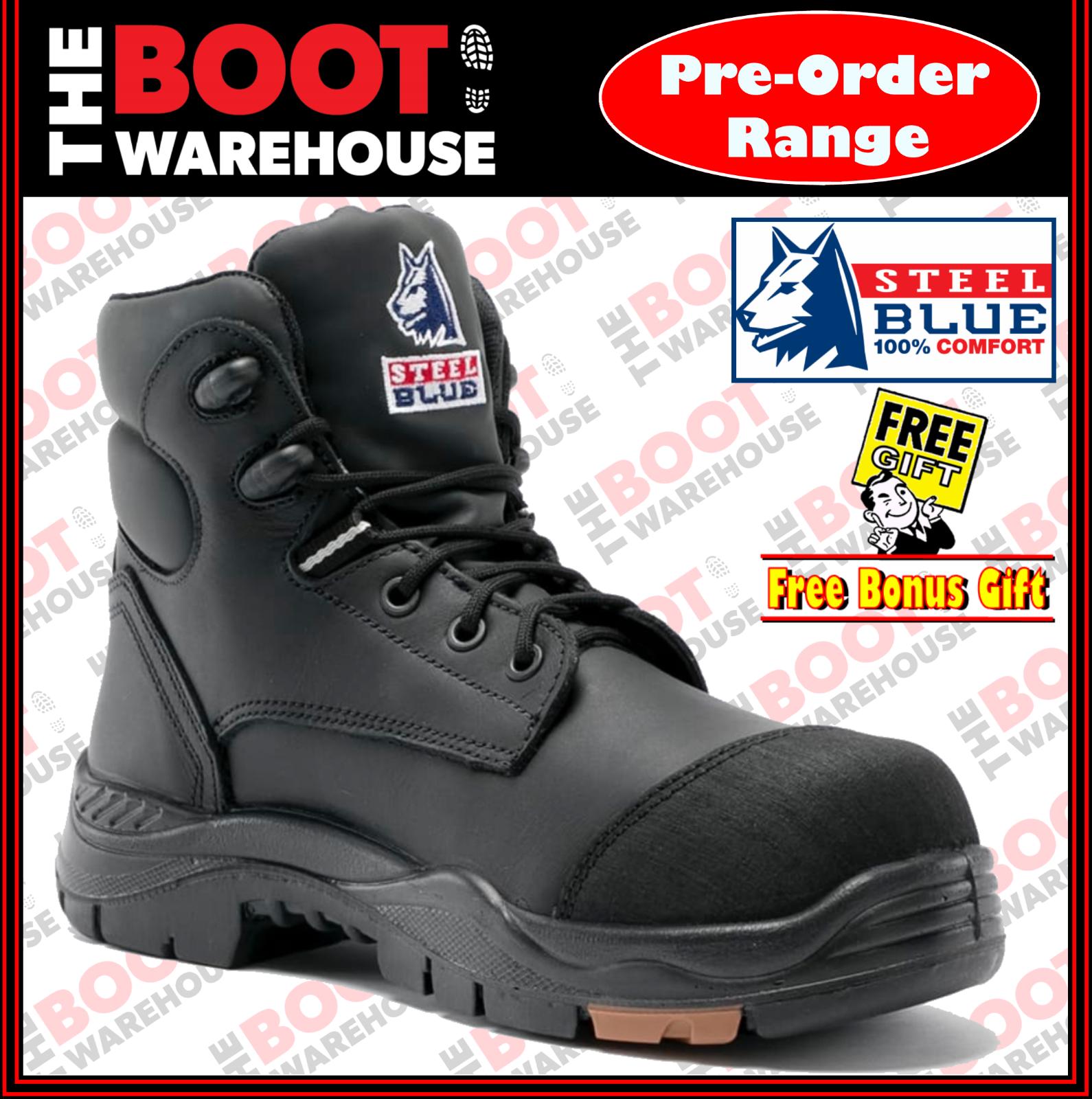 alta qualità genuina Steel blu 'CANBERRA' 617512 Work stivali. stivali. stivali. nero Composite Toe Cap Safety Bump Cap  si affrettò a vedere