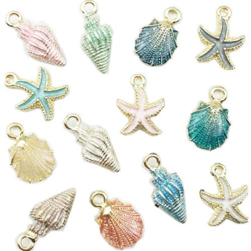 13PCS Conch Seashell Beautiful Charms Anhänger Handwerk DIY Schmuck machen