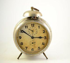 Antique JUNGHANS 1930s Alarm clock Germany Vintage old ...