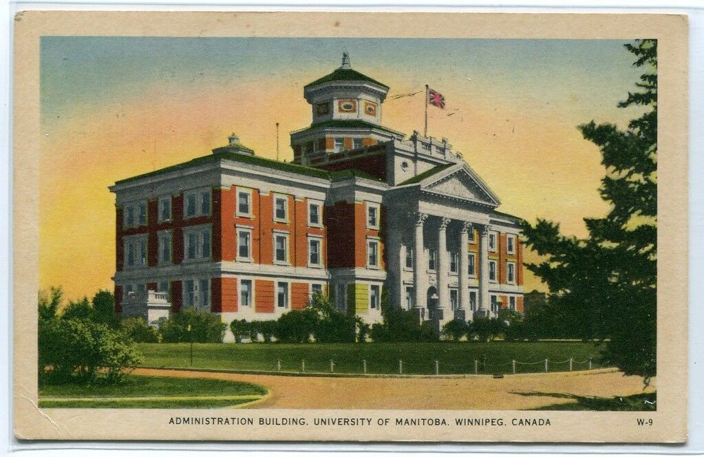 Administration Building University Manitoba Winnipeg Canada postcard