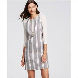 NWT-Ann-Taylor-Vertical-Geometric-Striped-Sleeveless-Shift-Dress-129-00