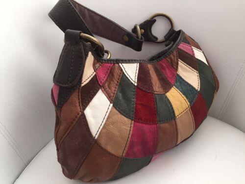 Hippie Suede Colored Hobo Lucky Brand Bag Handtas Boho Patchwork Multi Leren roexBWCd