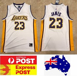 competitive price f5ab6 e464d Details about Lebron James LA Lakers new jersey, home white color