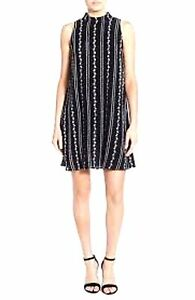 NWOT-WAY-IN-NORDSTROM-WOMENS-BLACK-EMBROIDERED-SLEEVELESS-SUN-DRESS-SHIFT-SIZE-M