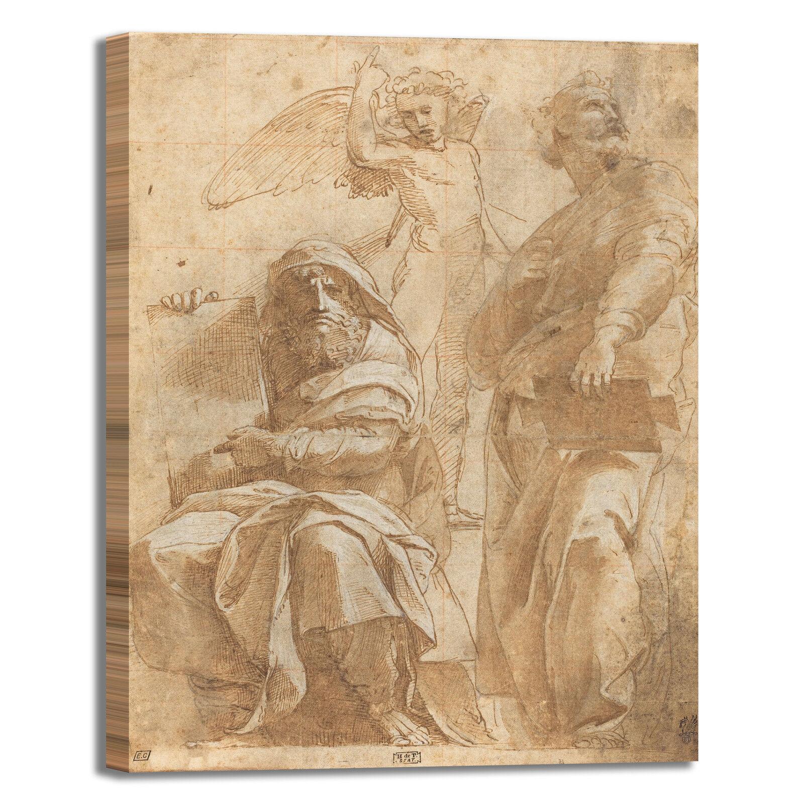 Raffaello profeti Osea e Jonah quadro stampa tela dipinto dipinto dipinto telaio arRouge o casa 4845b6