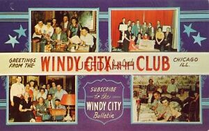 GREETINGS FROM THE OFFICERS OF THE WINDY CITY POST CARD CLUB, CHICAGO, IL
