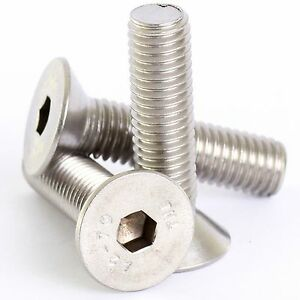 M4,M5,M6,M8 Stainless Steel Countersunk Socket Screws Allen Bolts