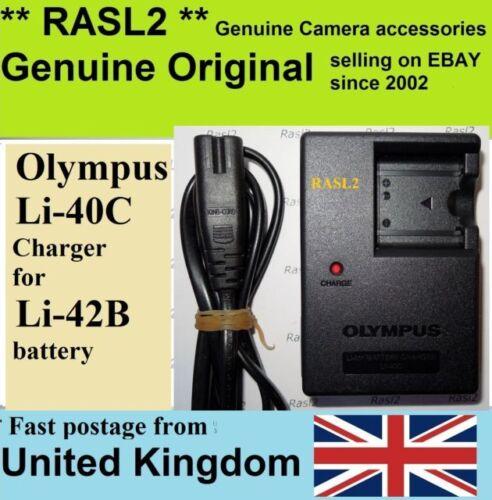 Olympus Li-42B Stylus 720sw u 700 710 FE-220 740 Genuino Original Cargador Li-40C