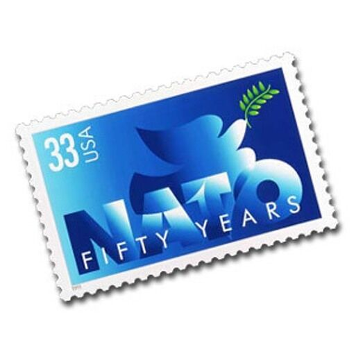 1999 33c North Atlantic Treaty Organization, NATO, 50th