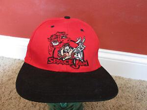 d2e9c31a513dc3 Vintage 1996 Space Jam red Snapback Hat cap Michael Jordan Warner ...