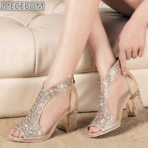 venta minorista 68501 ba0ff Details about Zapatos Cristal de Mujer Para Fiesta Moda Primavera con  Plataforma Comodos Sexy