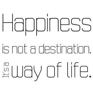 Happiness is not a destination 2 wandtattoo spr che gl ck for Dekoration wohnzimmer ebay